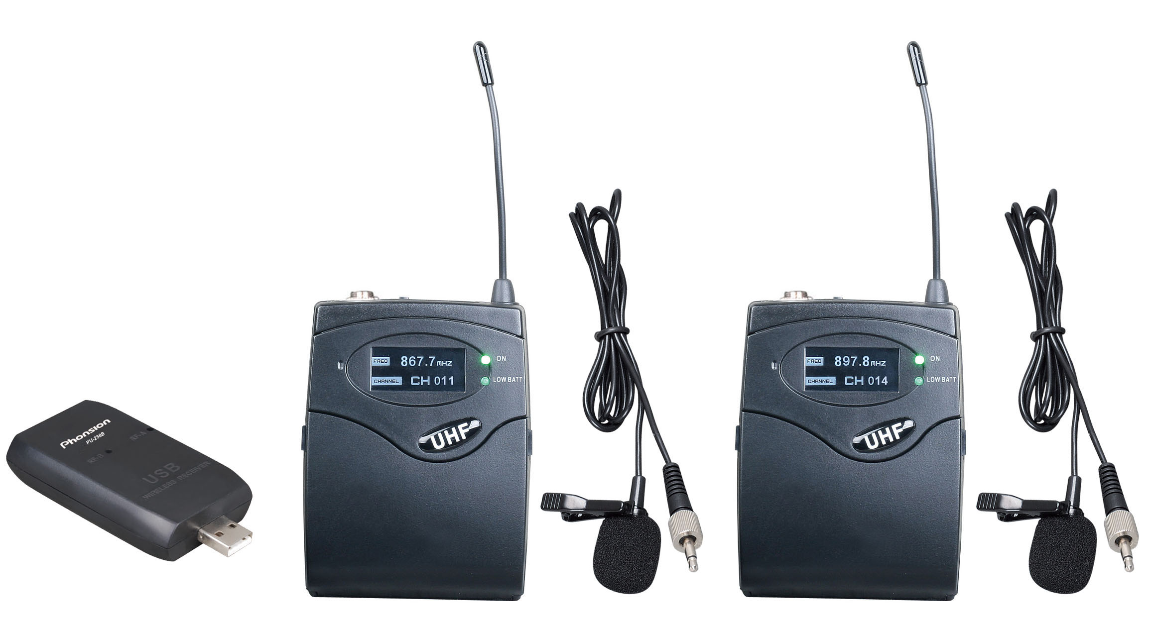 PU-238B UHF USB Wireless Microphone